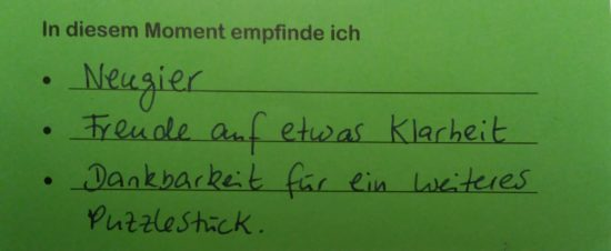 Feedback Kurs 32 Beginn Gordon Familientraining Berlin Bettina